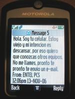 mensaje EntelPCS